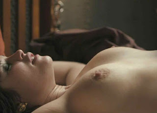 Gemma Arterton lying topless