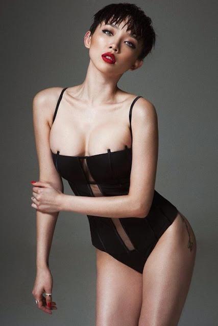 Tóc Tiên không bao giờ vắng mặt trong top những người đẹp có thân hình chuẩn nhất nhì showbiz Việt.