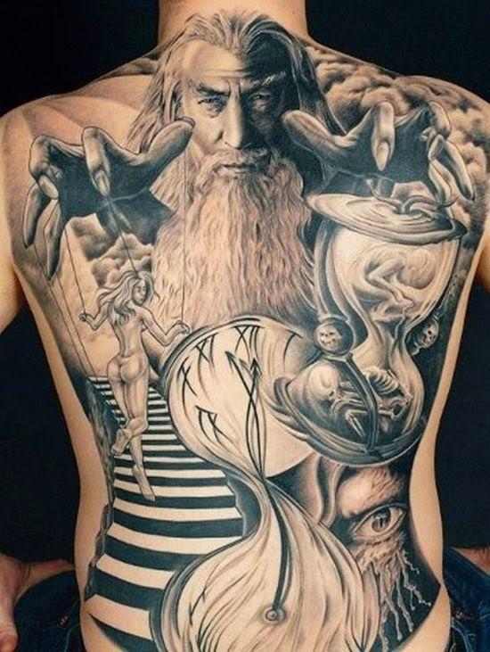Mens Back Tattoos