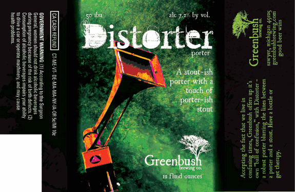 Greenbush Distorter Label