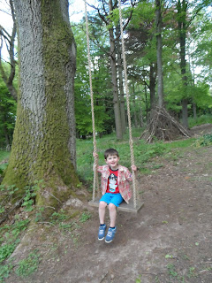 Lowther Castle and Gardens May 2013 - Tree swing.