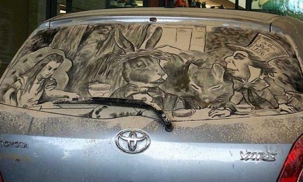 Convertir en arte el polvo