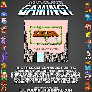 zelda title screen fact Random Game Facts   The Legend of Zelda Title Screen