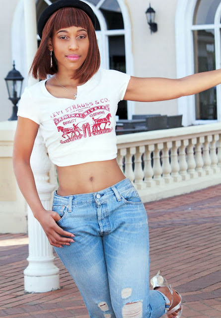 Buhle Samuels ( Muvhango actress). Dressed by Levis, Sandton