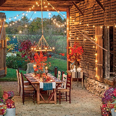 Beautiful fall outdoor rooms for Best garden rooms