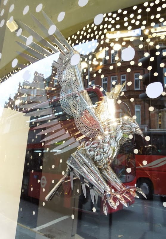 Cutlery hawk Peter Jones Christmas window