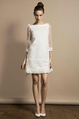robe courte de mariée mariage civile mairie élégante sobre blanche ivoire delphine manivet
