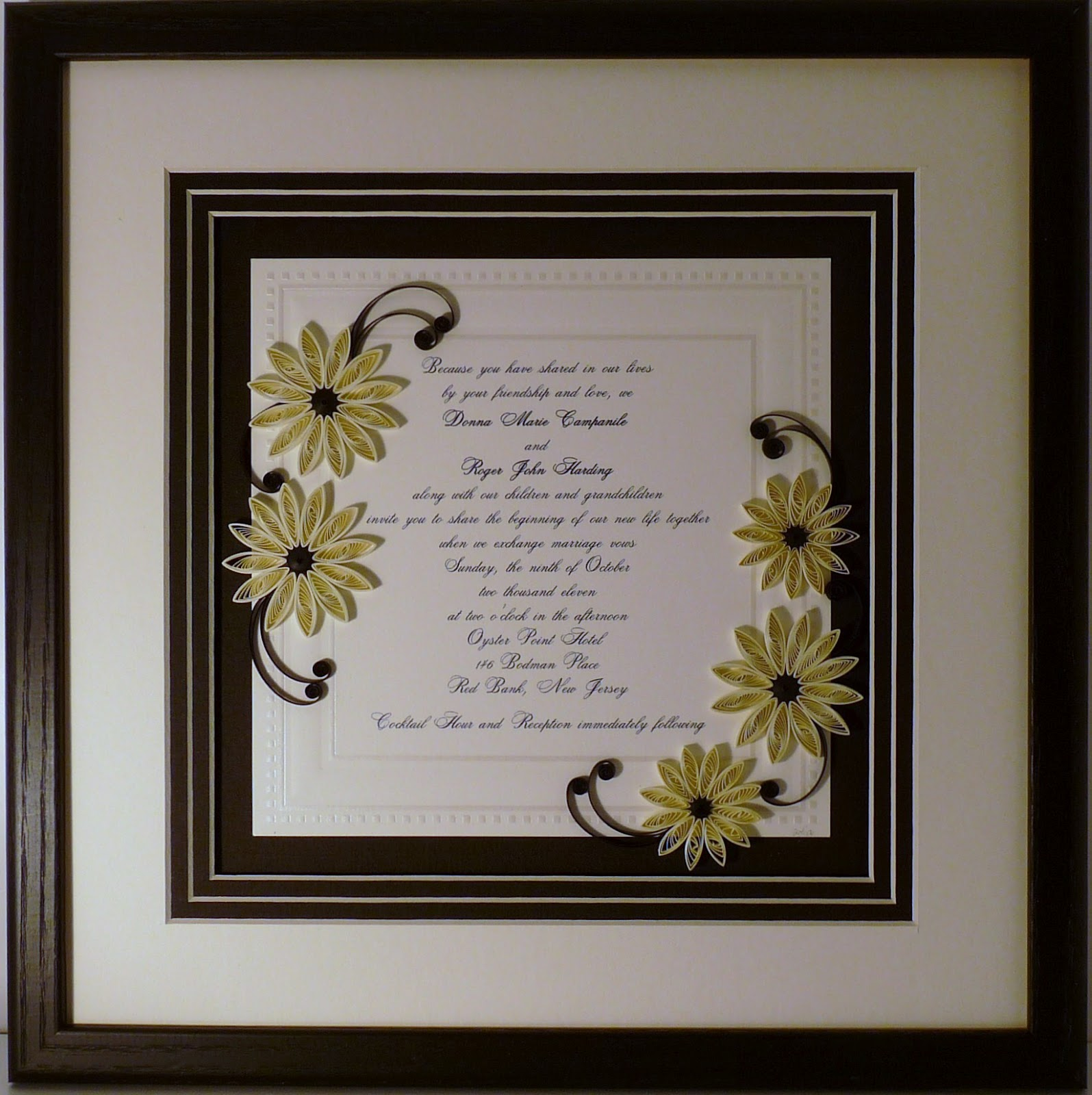 Quilling by sandra white more quilled wedding invitations more quilled wedding invitations stopboris Choice Image