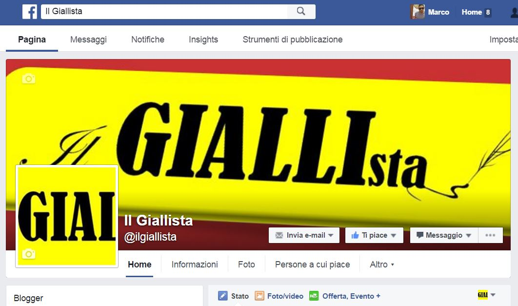 Seguiteci anche sulla nostra pagina Facebook IL GIALLISTA