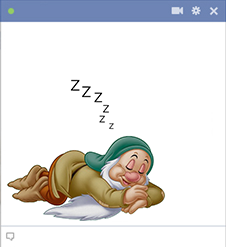 Sleepy - Disney character for Facebook