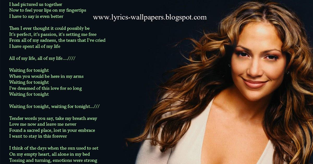 Lyrics Wallpapers Jennifer Lopez Waiting For Tonight