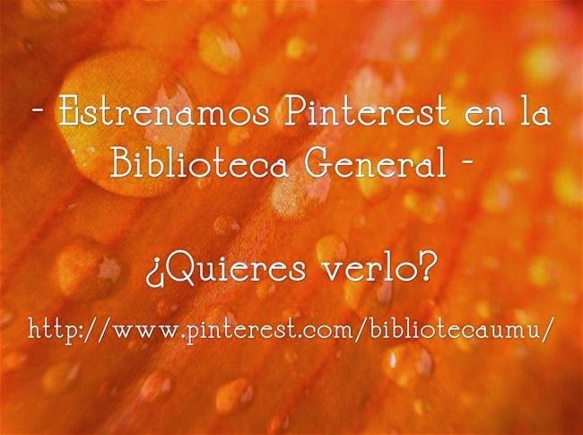 """Estrenamos """"Pinterest"""" en la Biblioteca General."""
