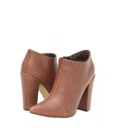 Comprar botines taco ancho color camel por internet - magnoliamoda - pamela-victoria.com