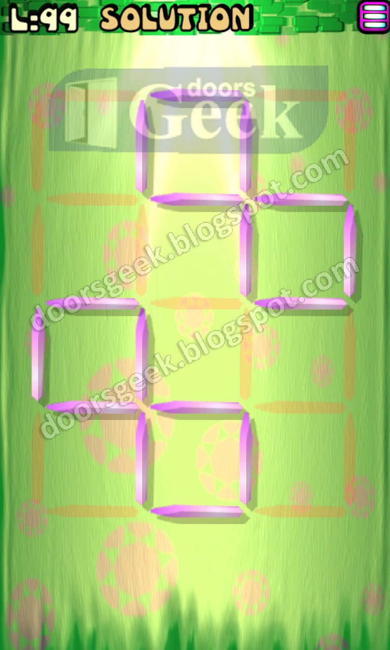 Matches puzzle episode 8 level 99 solution doors geek for 16 door puzzle solution