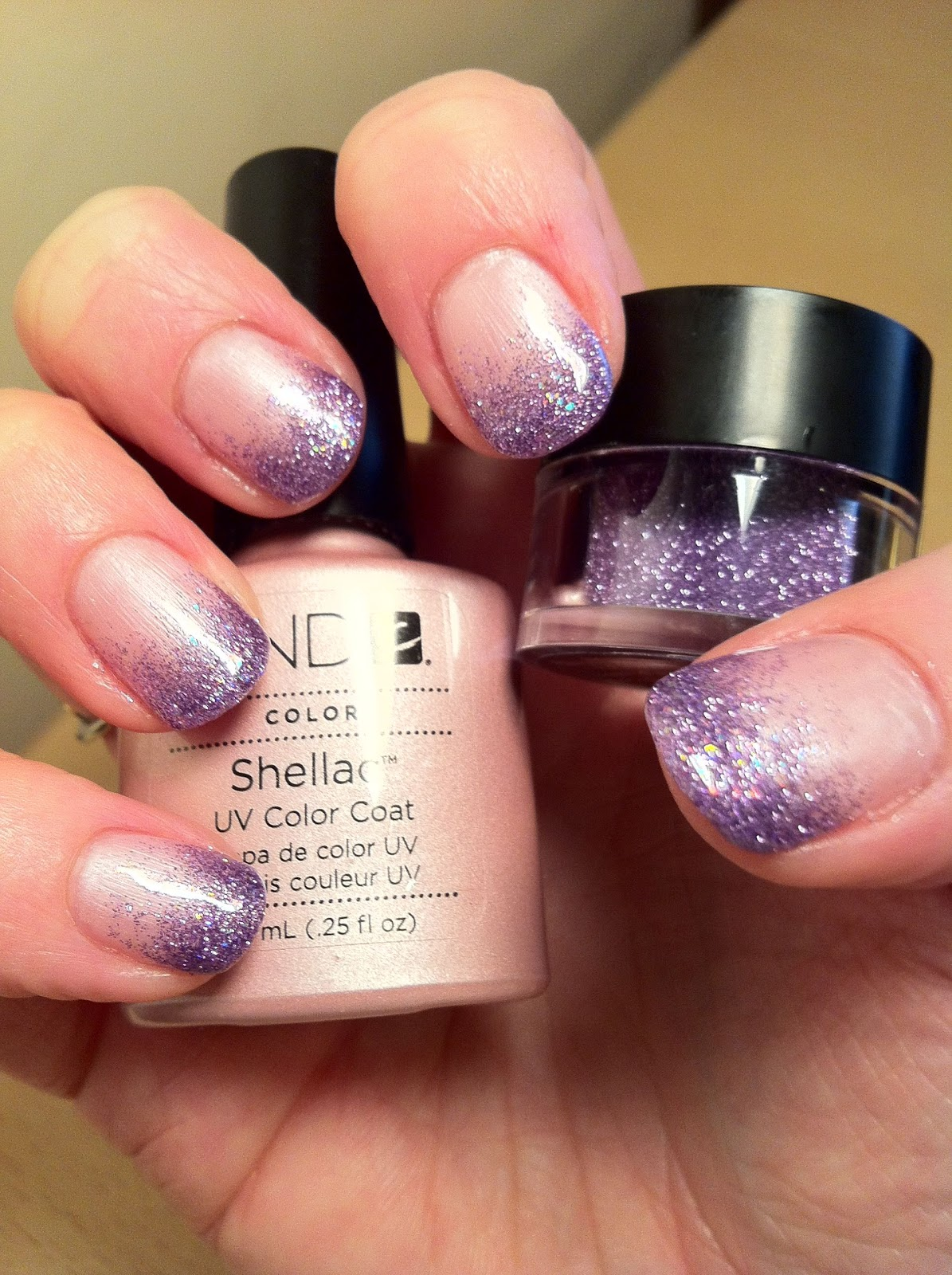 Brush up and Polish up!: CND Shellac Nail Art - Glitter Fade Barbie
