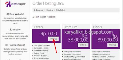 4 Pilih layanan hosting gratis (karyafikri.blogspot.com)