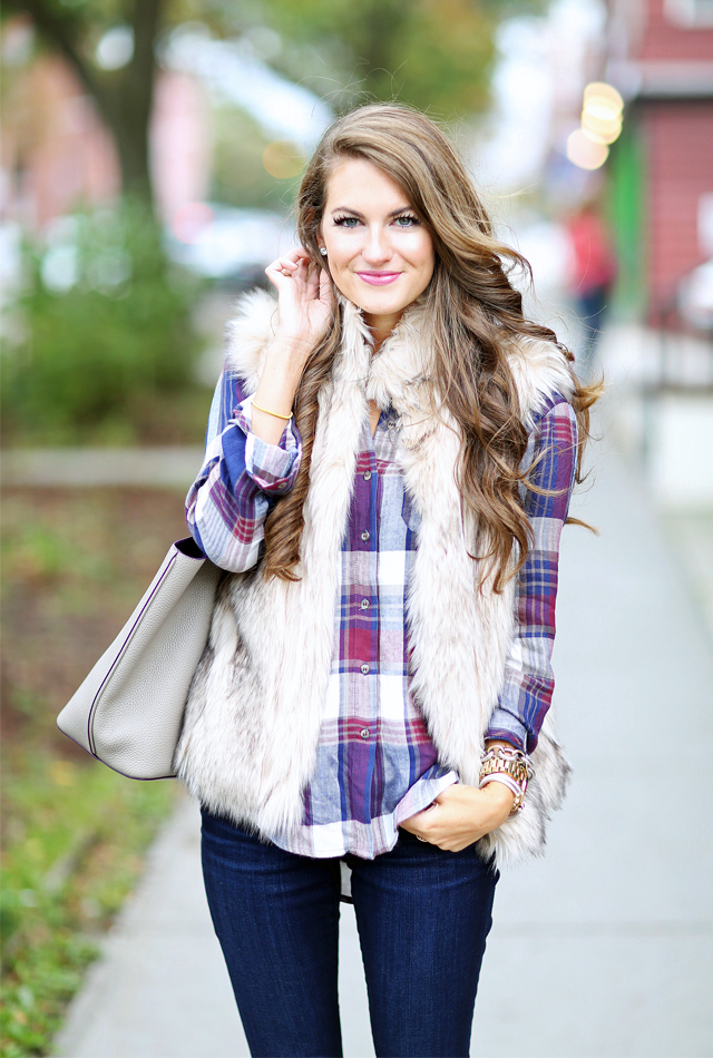 Love this faux fur vest