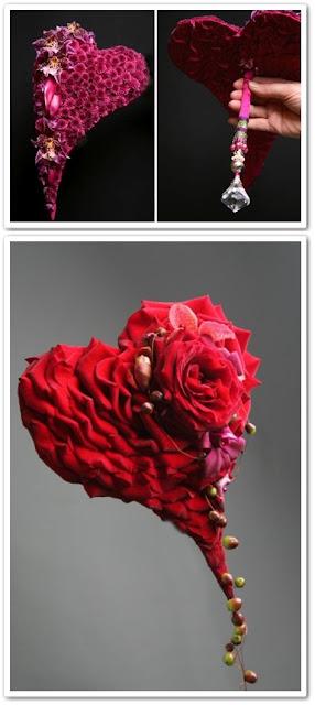 hjärtformad  brudbukett, annorlunda brudbukett, per benjamin, blommor till alla hjärtansdag, brudbukett röda rosor