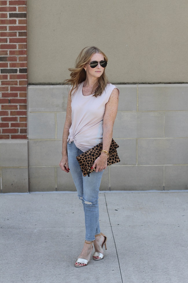 jcrew metallic stripe top