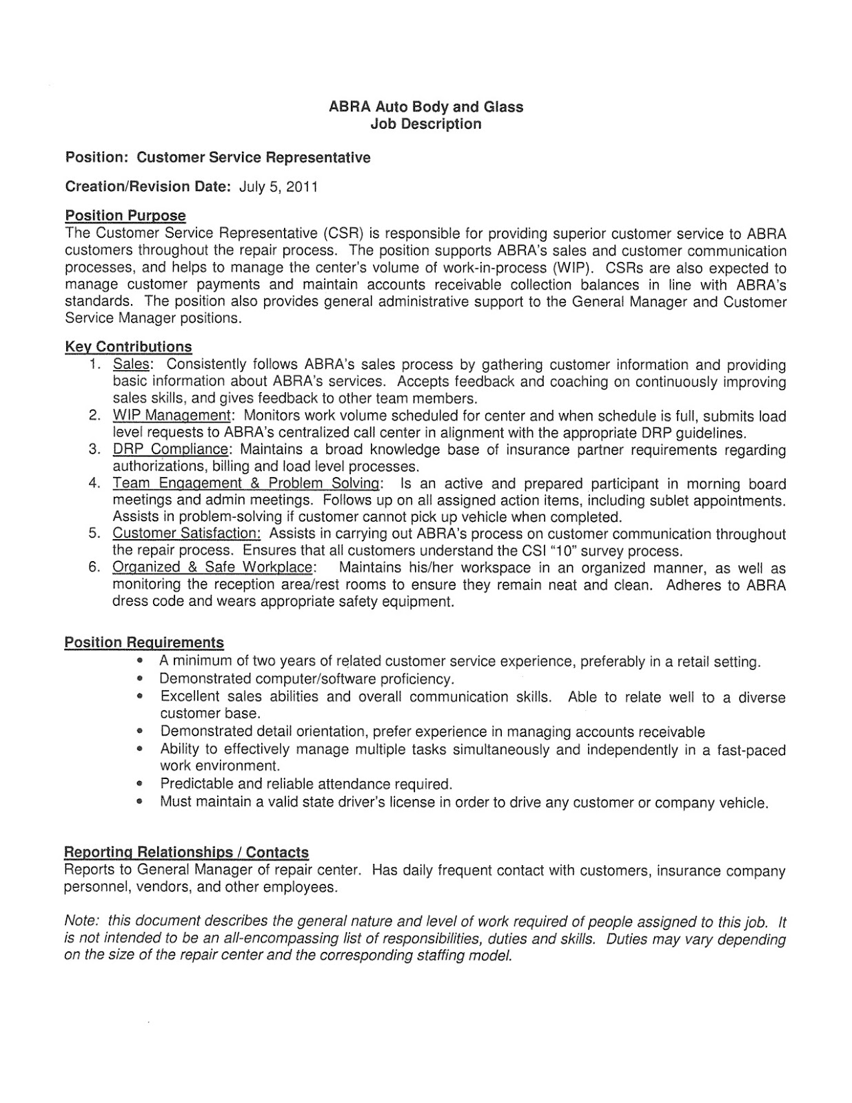 inbound call center job description for resume this is customer