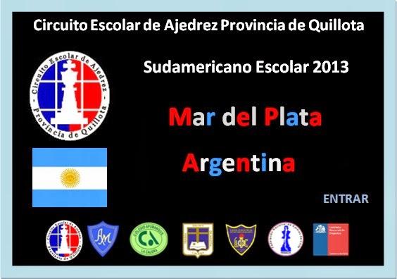 SUDAMERICANO DE AJEDREZ ESCOLAR MAR DEL PLATA ARGENTINA 2013