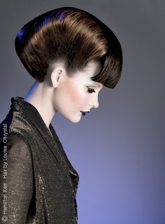 hairdressing photoshoot, fashion, 80s inspired metallic tones, photographic lighting