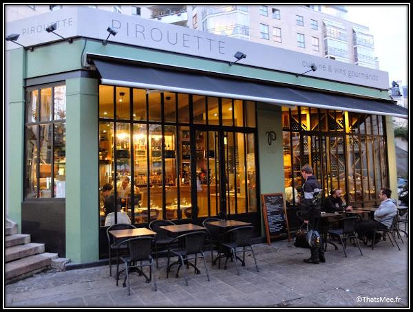 Resto Pirouette menu carte 5 rue Mondétour Paris vue de dehors