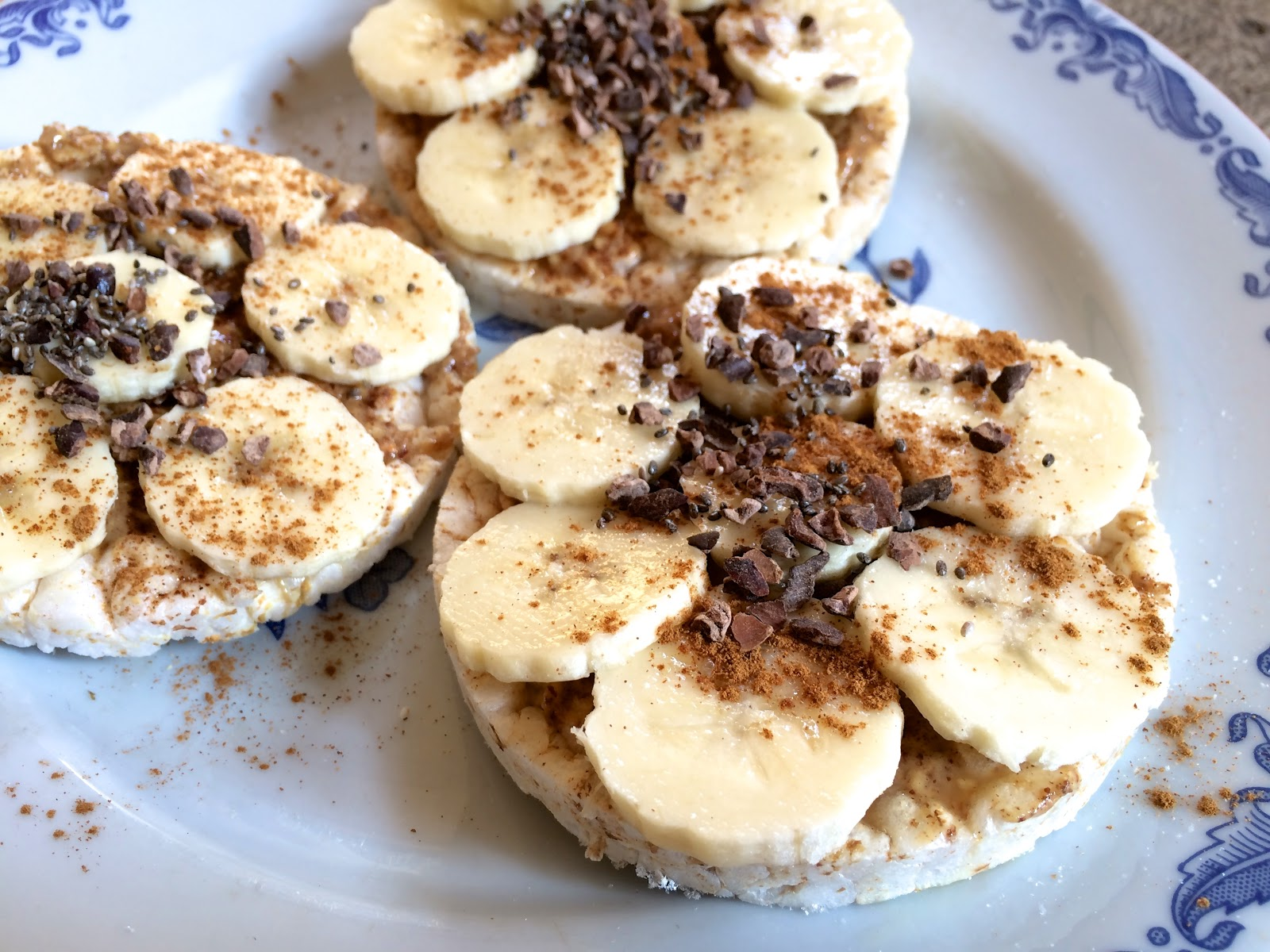 banana peanut butter rice cracker