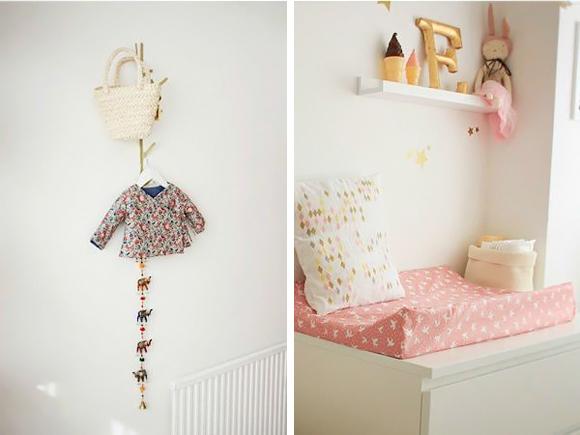 Decoraci n habitaci n beb estrellas doradas trendy - Estrellas decoracion infantil ...