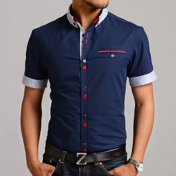 Stylish Slim Half Sleeve Dress Shirt Just Lately We Post Offered Newest T Shi