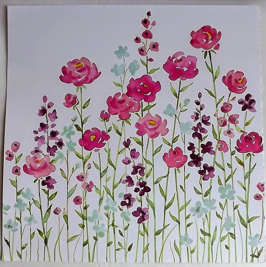Stampin Up! painted blooms