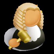 パワポマン(裁判官/ハンマー持ったベートーベン)