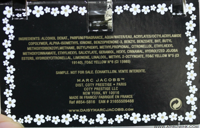 Daisy Marc Jacobs eau de toilette ingredients