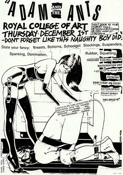 Poster announcing a Adam and then Ants gig in 1980.