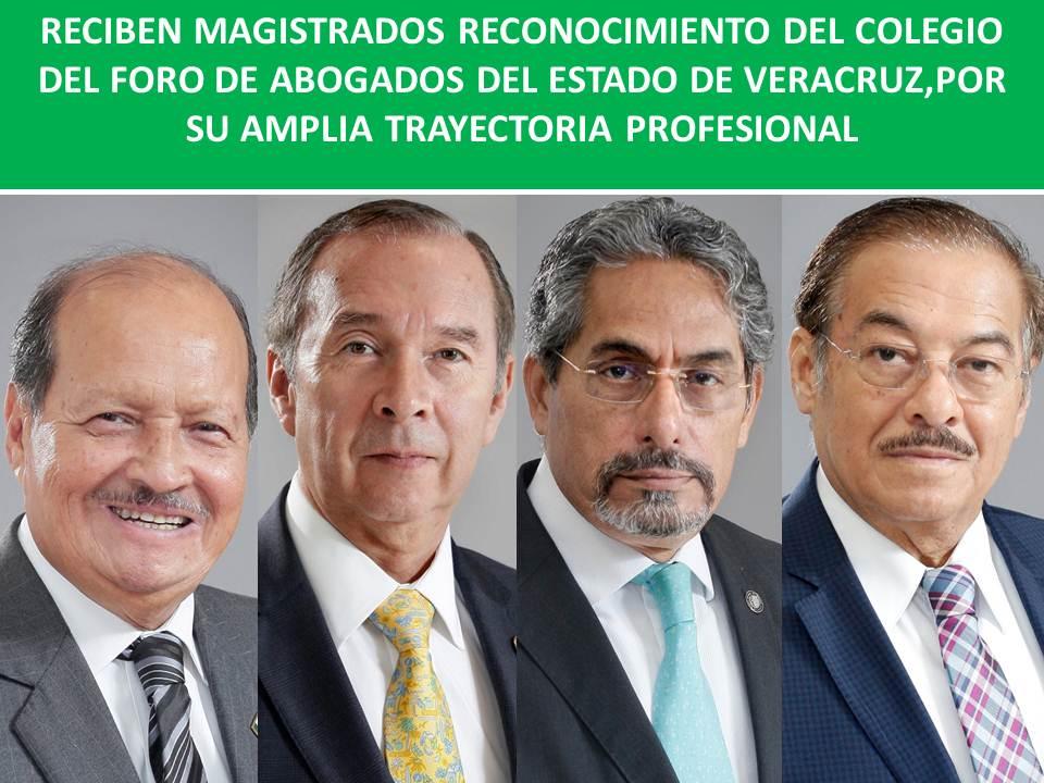 RECONOCIMIENTO DEL COLEGIO DEL FORO DE ABOGADOS