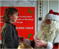 The Boy meeting Santa