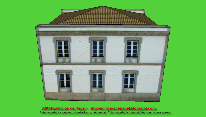 Beautiful Galician Manor Paper Model