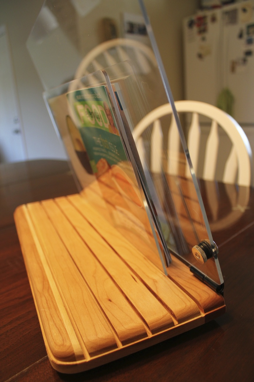 Cue the most awesome cookbook holder ever invented.