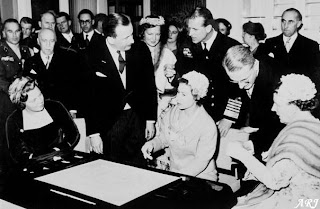 Queen Elizabeth during a visit to the Royal Asscher's in Amsterdam