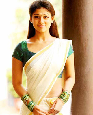 Nayanthara Hot in Kerala Traditional Saree Photos
