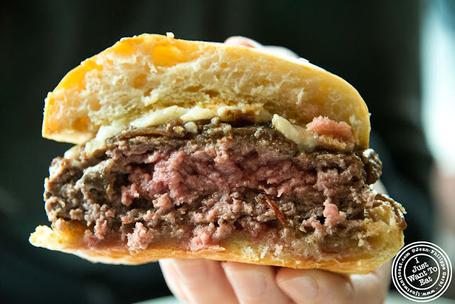 Image of the burger at Colicchio and Sons in NYC, New York