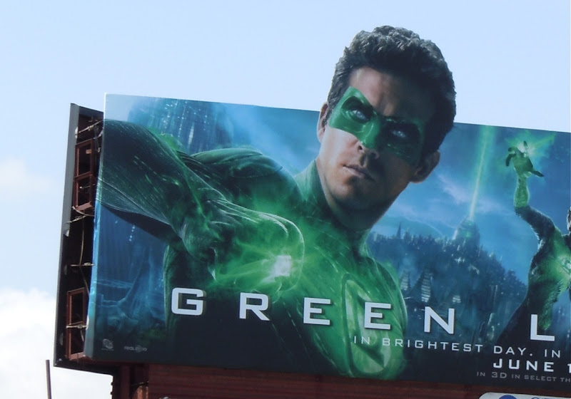Green Lantern Ryan Reynolds billboard