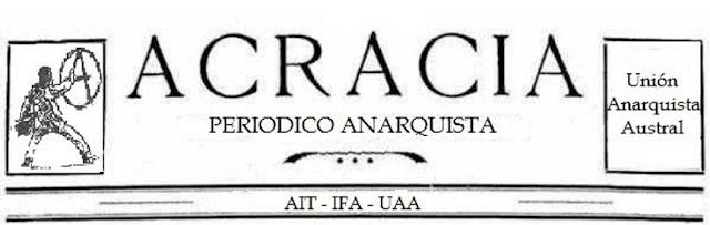 Periódico Acracia, Valdivia región chilena.