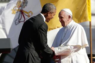 El papa es recibido en la Casa Blanca