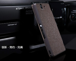 Brown Gentleman Flip Leather Cover Case LCD Guard For Sony Xperia Z L36h L36i