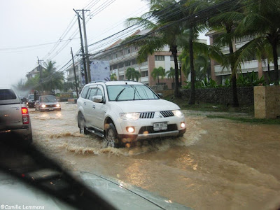 Flash flood Koh Samui April 2013