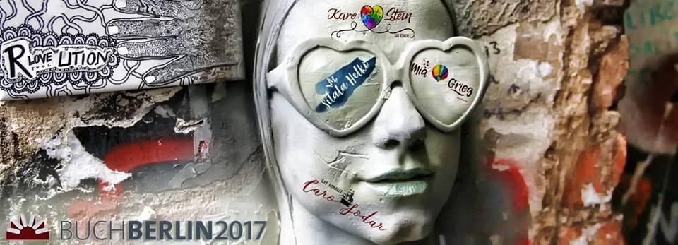 Caro Sodar, Mia Grieg, Sitala Helki und Karo Steinn auf der Buch Berlin