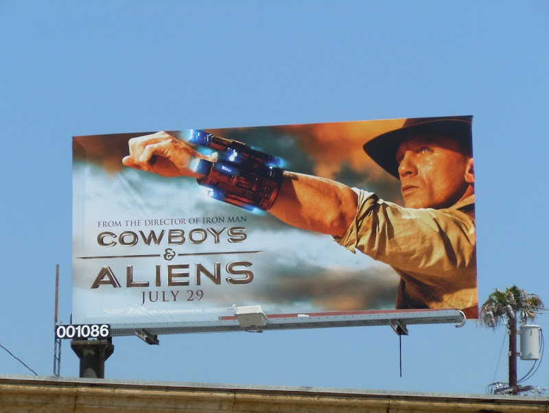 Cowboys and Aliens movie billboard