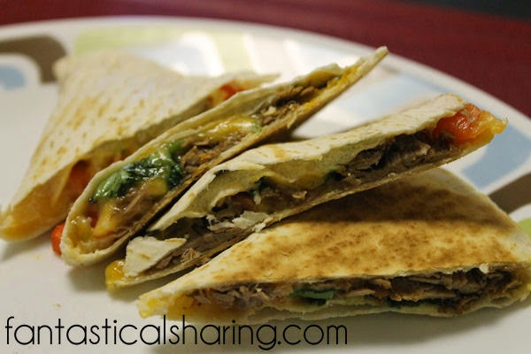 Chipotle Steak Quesadillas | Ridiculously amazing filling that is slow cooked before you make the quesadillas