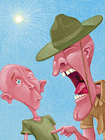 Drill Sergeant Cartoon with Article